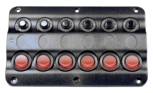 Панель на 6 переключателей 10026-BK, 160х100мм