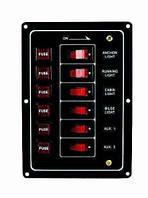 Панель на 6 переключателей 10069, 165х115мм