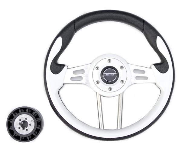 Рулевое колесо 33 см белое Pretech HD-5166G White 330мм