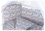 Детская постель Babyroom Comfort-08 unicorn серый (единороги), фото 2