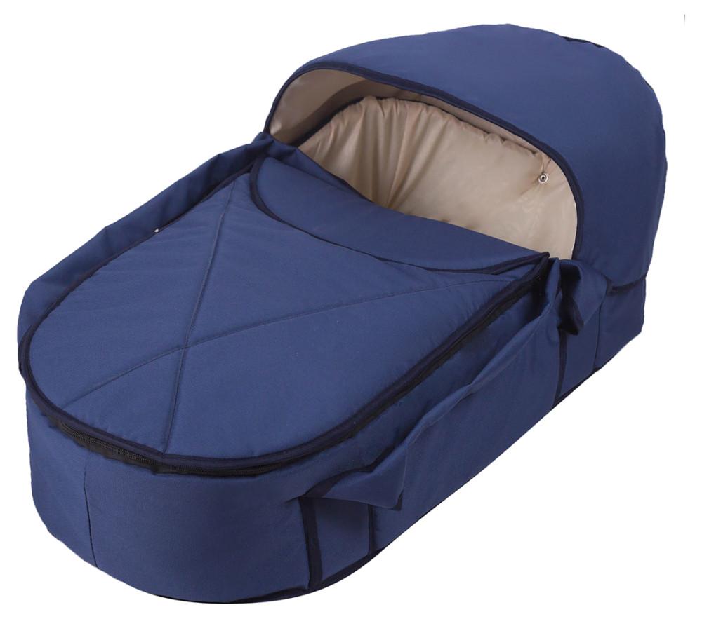 Люлька-переноска Babyroom BLP-055 с твердым дном  темно-синий