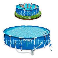 Акция !!!  INTEX 28236 (54946)Круглый каркасный бассейн Metal Frame Pools (457x122 см)