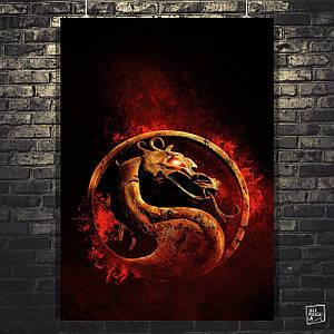 "Постер ""Mortal Kombat . Лого"". Мортал Комбат. Размер 60x42см (A2). Глянцевая бумага"