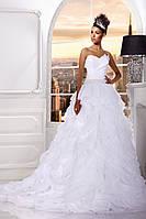 Свадебное платье «Душа розы» с вышитым поясом