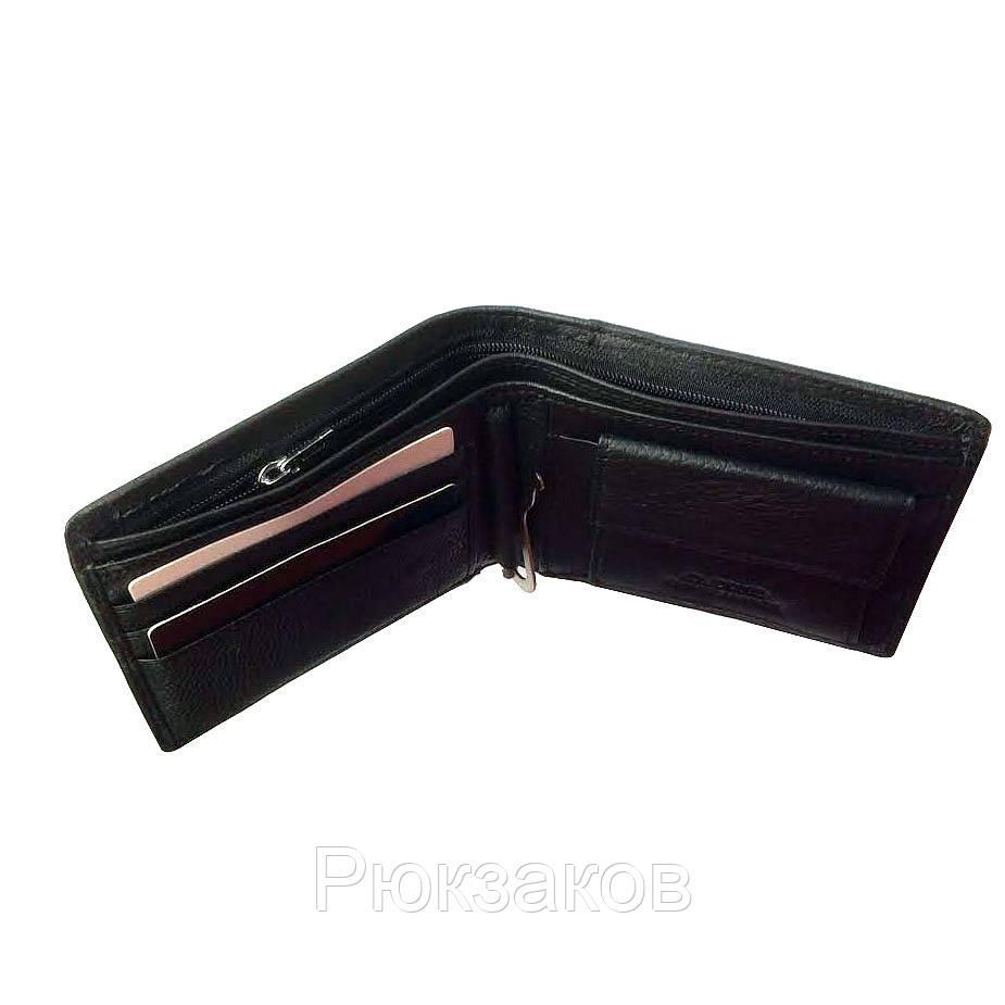 12f790ce6084 Черный Мужской кошелек из натуральной кожи Dr. Bond Classic. Кожаный кошелек  - зажим.