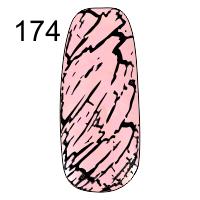 MN-07T Трескающийся лак для ногтей № 174 (розовый)