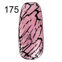 MN-07T Трескающийся лак для ногтей № 175 (розовый с блестками)