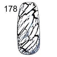 MN-07T Трескающийся лак для ногтей № 178 (белый)