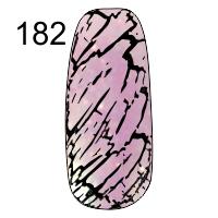 MN-07T Трескающийся лак для ногтей № 182 (светло сирень с блестками)