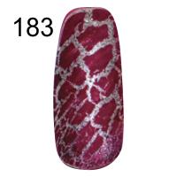 MN-07T Трескающийся лак для ногтей № 183 (бордо с блестками)