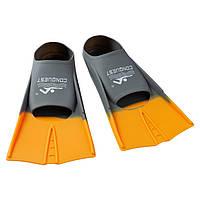 Ласты для бассейна короткие оранжевые F868