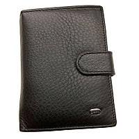 Мужской кошелек Dr. Bond Classic из натуральной кожи с отделением для документов. Портмоне.