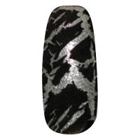 NE-6T Трескающийся лак для ногтей № 2 (черный) (2+1)