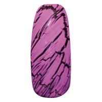 NE-6T Трескающийся лак для ногтей № 5 (сирень с блестками) (2+1)