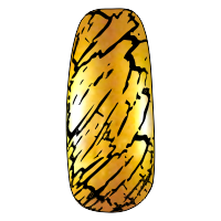 NE-6T Трескающийся лак для ногтей № 6 (золото) (2+1)