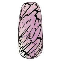 NE-6T Трескающийся лак для ногтей № 7 (светло сирень с блестками)