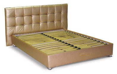 Ліжко подіум з мякою спинкою №4  Матролюкс