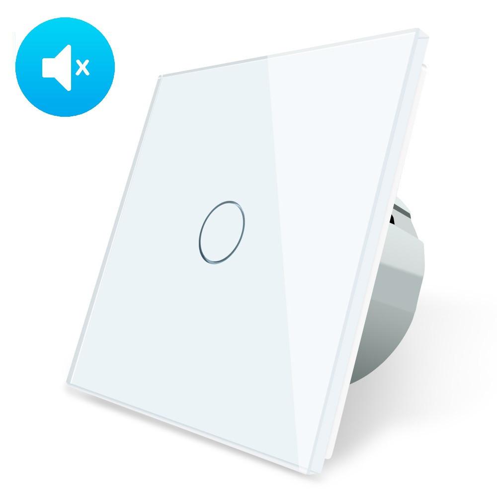 Бесшумный сенсорный выключатель Livolo Silent белый стекло (VL-C701Q-11)