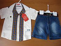 Детский модный летний котоновый костюм для  мальчика, 1 годТ  80 см  урция., фото 1
