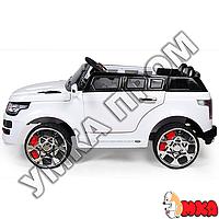 Детский электромобиль Range Rover Джип M 2447 EBR-1 , двери откр, колёса EVA, белый