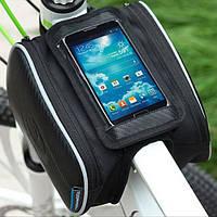 "Сумка на раму смартфон, для GPS, навигатора, телефона, Roswheel 5.5"""
