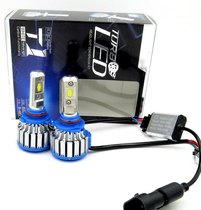 Комплект светодиодных ламп головного света LED T1-H4 ксенон Xenon T1-H4 Turbo LED