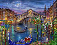 """Схема на ткани для вышивки """"Венецианская луна"""""""