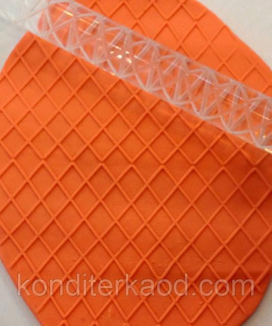 Скалка текстурная для мастики, марципана, теста, полимерной глины маленькая 10 моделей