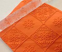 Скалка текстурная для мастики, марципана, теста, полимерной глины маленькая