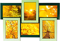 Зеленая 6 (премиум рамка из дерева)