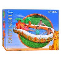 Игровой центр 57131 для детей от 1 года, Бассейн для всей семьи, Надувной бассейн с горкой, Домашний