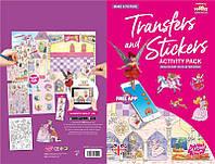 Набор переводных наклеек Scribble Down с онлайн приложением Сказка о принцессе SD/21