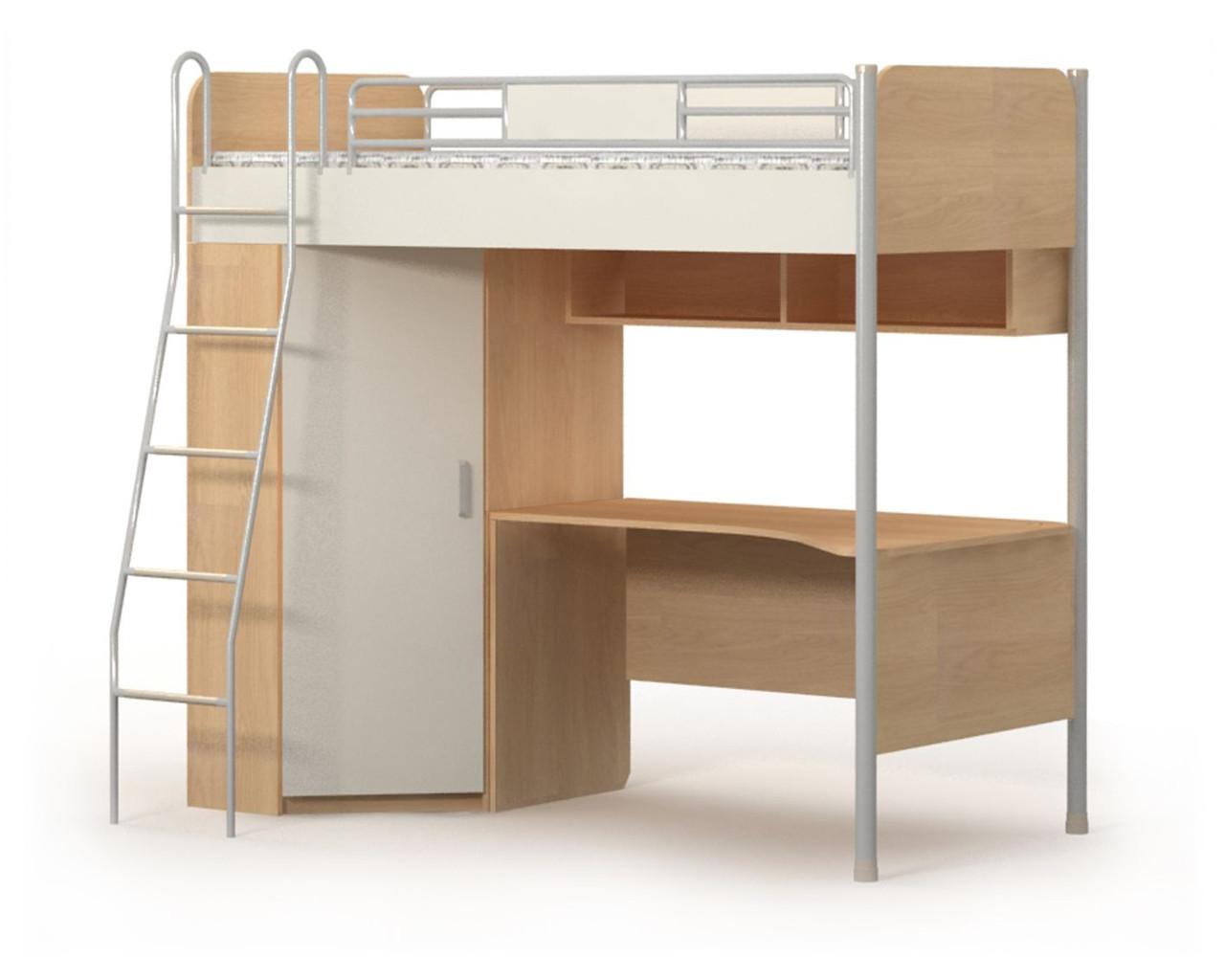 Кровать+стол+шкаф Мега (М-16-2)
