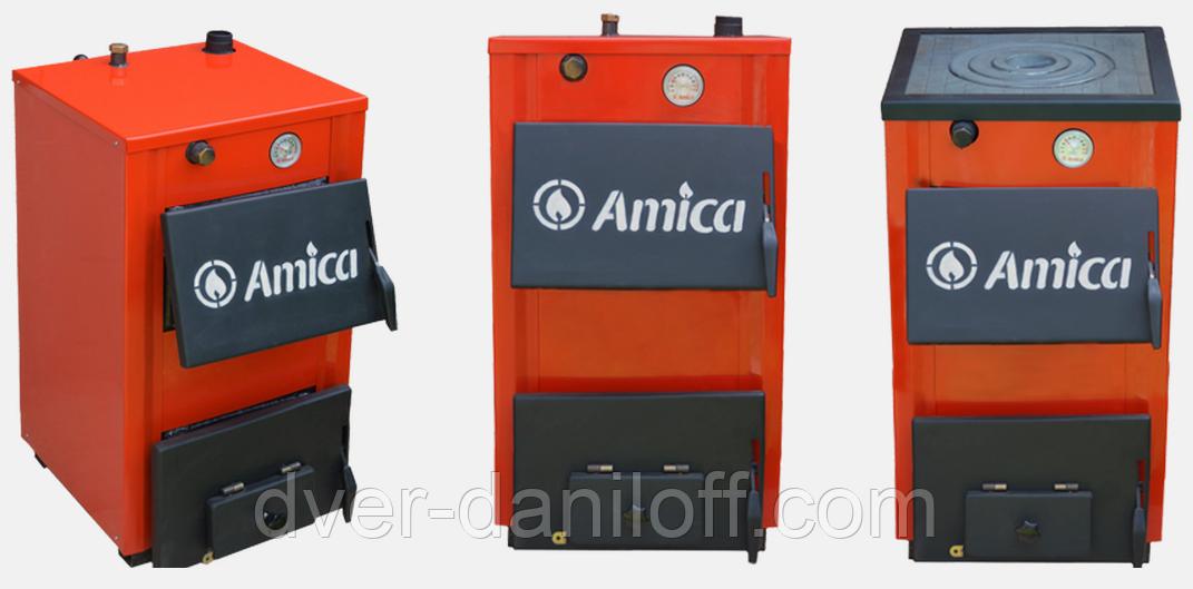 Твердотопливный котел Amica Optima 14p с варочной плитой