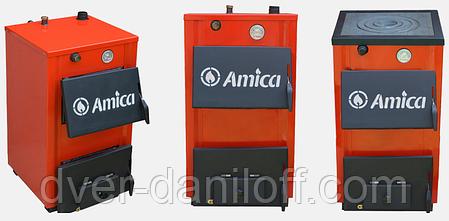 Твердотопливный котел Amica Optima 14p с варочной плитой, фото 2