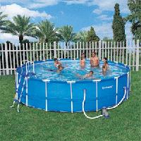 Каркасный круглый бассейн 549x122см с уборочным комплектом Bestway 56113