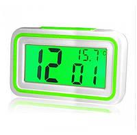 Говорящие настольные часы Kk-9905tr с подсветкой, green вставка, фото 1