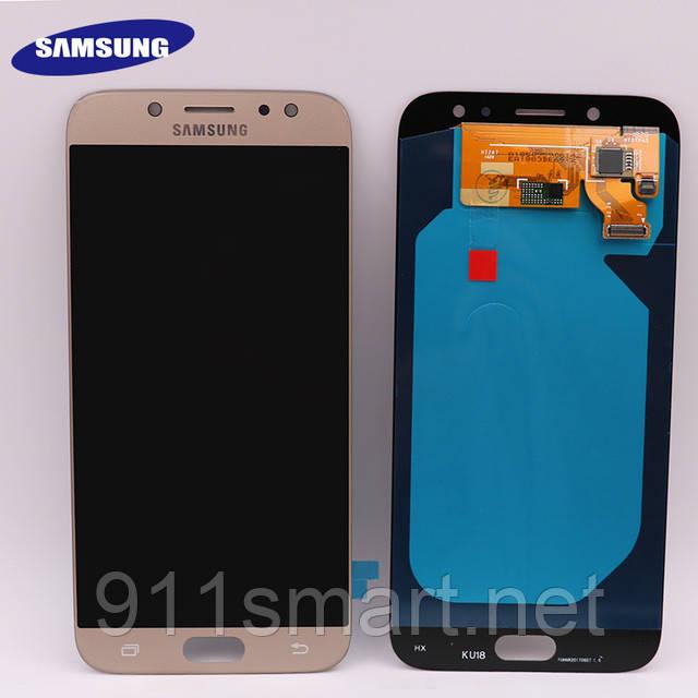 Дисплей, модуль amoled Samsung Galaxy J7 J730F / DS, J730FM  Gold