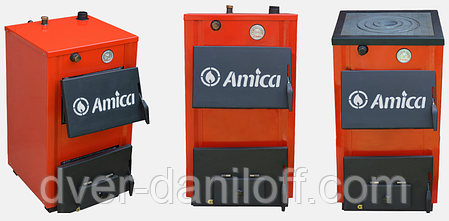 Твердотопливный котел Amica Optima 18p с варочной плитой, фото 2