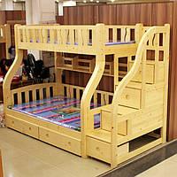 2-х ярусная  деревянная кровать «Мария-2»