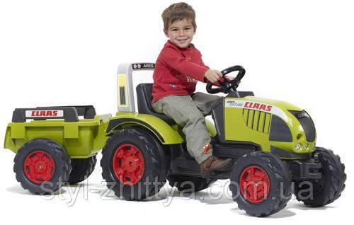 Трактор на педалі з прицепом. Claas Arion FALK 991B