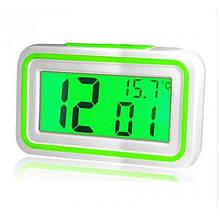 Говорящие настольные часы Kk-9905tr с подсветкой, green вставка