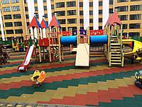 Резиновое покрытие для детских площадок, игровых спортивных площадок
