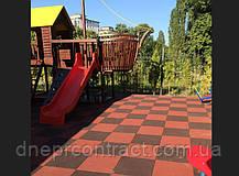 Резиновое травмобезопасное покрытие для детских площадок 35 мм, фото 3