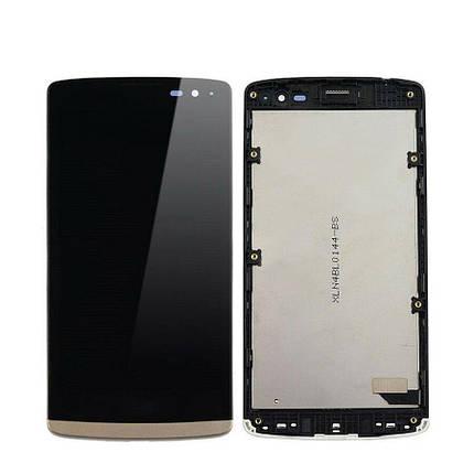Дисплей (экран) для LG H320 Leon Y50 с сенсором (тачскрином) и рамкой золотой, фото 2