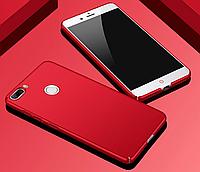 Чехол Soft-touch пластик для ZTE Nubia Z17 Lite / Стекло / Красный