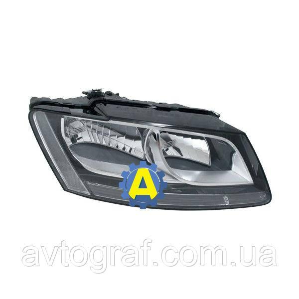 Фара левая и правая черная на Ауди Q5 (Audi Q5) 2008-2016