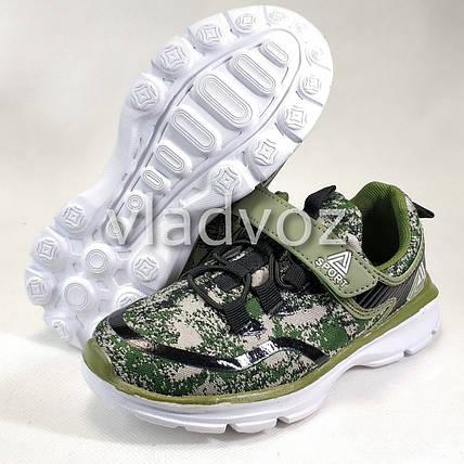 Детские кроссовки для мальчика хаки 34р. , фото 2
