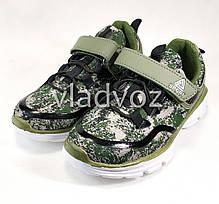Детские кроссовки для мальчика хаки 34р. , фото 3