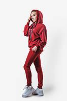 Трикотажная женская свободная кофта р-р 42-48(xs-l),бордо